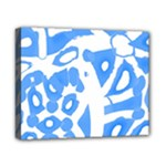 Blue summer design Canvas 10  x 8