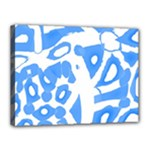 Blue summer design Canvas 16  x 12
