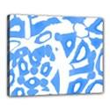 Blue summer design Canvas 20  x 16  View1