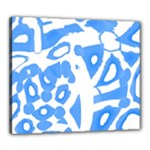 Blue summer design Canvas 24  x 20