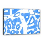 Blue summer design Canvas 18  x 12