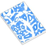 Blue summer design Large Memo Pads