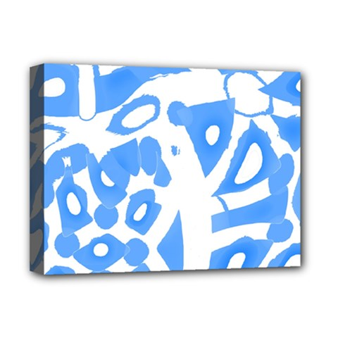 Blue Summer Design Deluxe Canvas 16  X 12