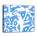 Blue summer design Deluxe Canvas 24  x 20