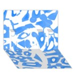 Blue summer design I Love You 3D Greeting Card (7x5)