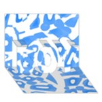Blue summer design BOY 3D Greeting Card (7x5)