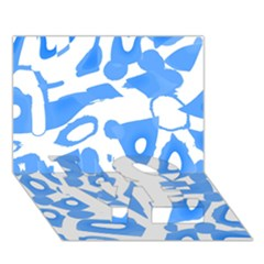 Blue Summer Design Love Bottom 3d Greeting Card (7x5)