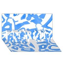 Blue summer design BEST SIS 3D Greeting Card (8x4)