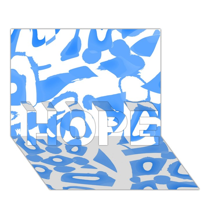 Blue summer design HOPE 3D Greeting Card (7x5)