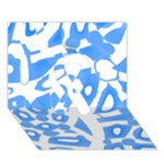 Blue summer design Ribbon 3D Greeting Card (7x5)