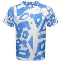 Blue summer design Men s Cotton Tee