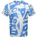 Blue summer design Men s Cotton Tee