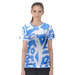 Blue summer design Women s Sport Mesh Tee