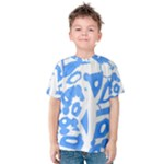 Blue summer design Kids  Cotton Tee