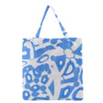 Blue summer design Grocery Tote Bag