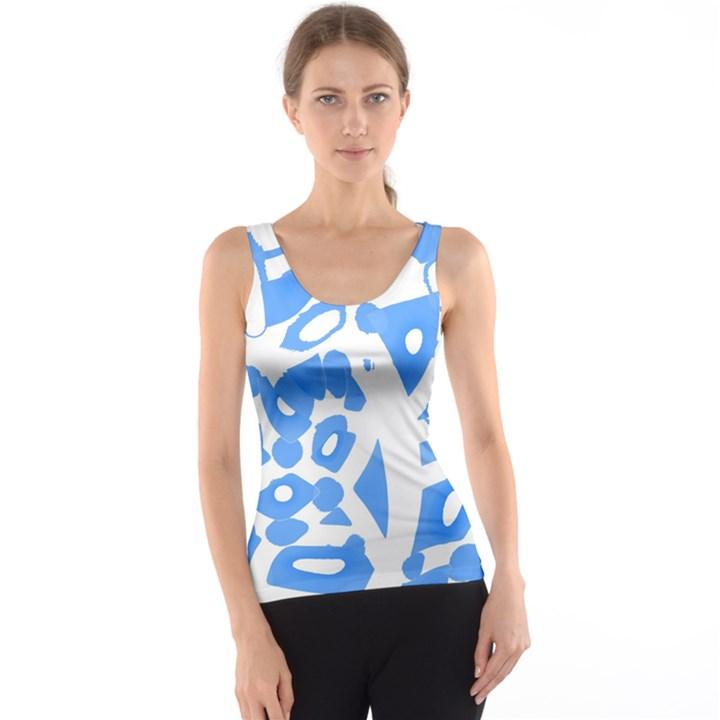 Blue summer design Tank Top