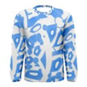 Blue summer design Men s Long Sleeve Tee View1