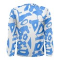 Blue summer design Men s Long Sleeve Tee View2