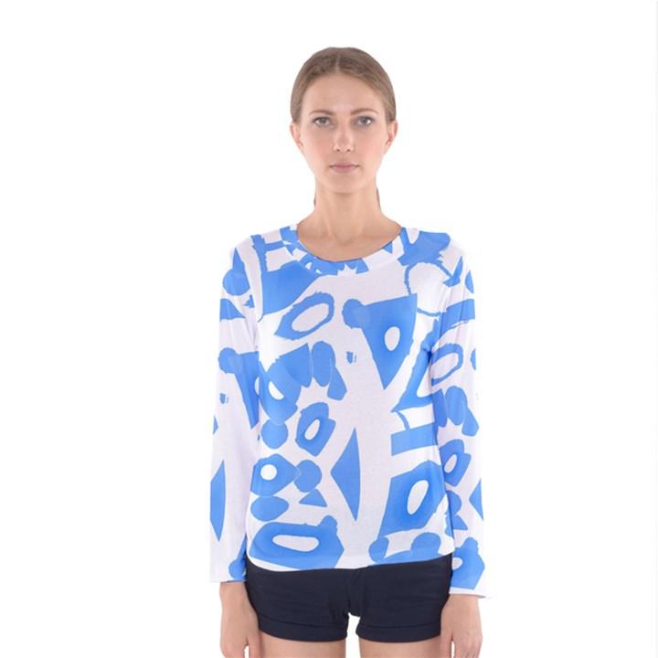Blue summer design Women s Long Sleeve Tee