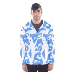Blue summer design Hooded Wind Breaker (Men)