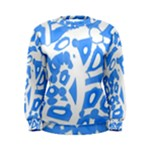 Blue summer design Women s Sweatshirt