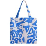 Blue summer design Zipper Grocery Tote Bag