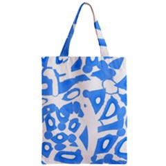 Blue Summer Design Zipper Classic Tote Bag by Valentinaart