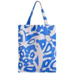 Blue summer design Zipper Classic Tote Bag