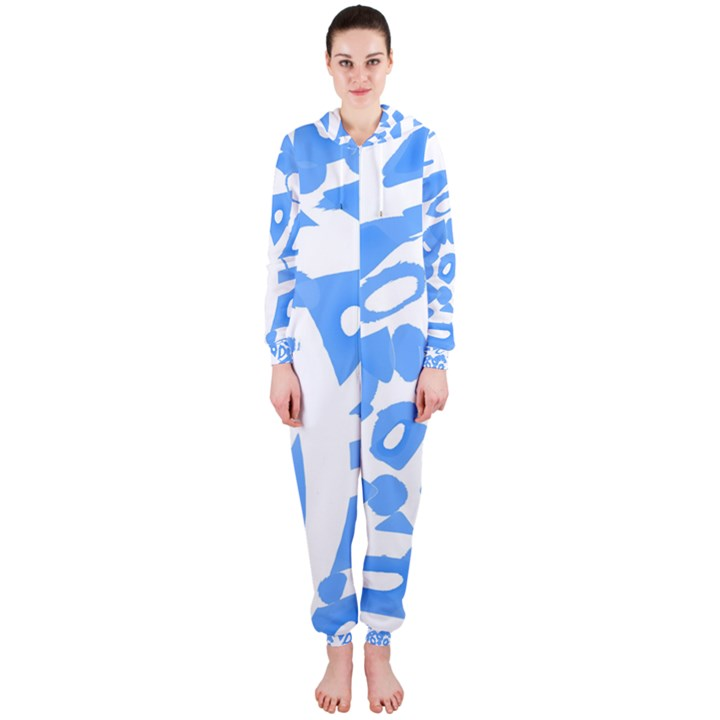 Blue summer design Hooded Jumpsuit (Ladies)