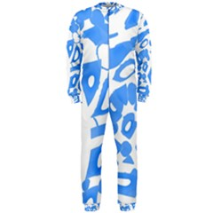 Blue Summer Design Onepiece Jumpsuit (men)