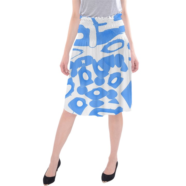 Blue summer design Midi Beach Skirt