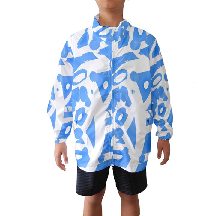 Blue summer design Wind Breaker (Kids)