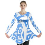 Blue summer design Long Sleeve Tunic