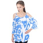 Blue summer design Flutter Tees