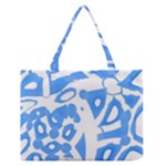 Blue summer design Medium Zipper Tote Bag