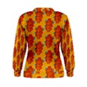 Bugs Eat Autumn Leaf Pattern Women s Sweatshirt View2