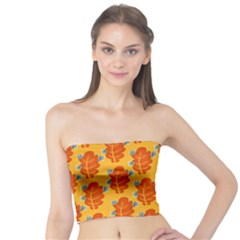 Bugs Eat Autumn Leaf Pattern Tube Top