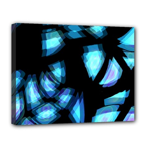 Blue light Canvas 14  x 11