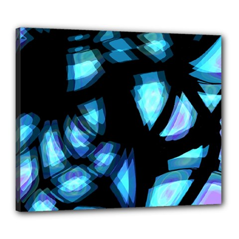 Blue light Canvas 24  x 20