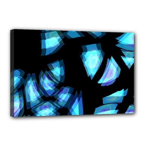 Blue Light Canvas 18  X 12