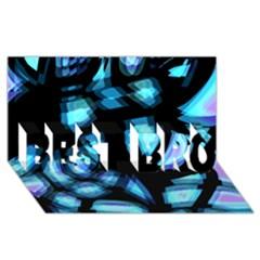 Blue Light Best Bro 3d Greeting Card (8x4) by Valentinaart