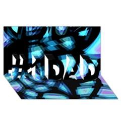 Blue Light #1 Dad 3d Greeting Card (8x4) by Valentinaart