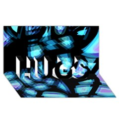 Blue Light Hugs 3d Greeting Card (8x4) by Valentinaart