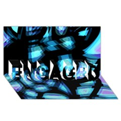 Blue Light Engaged 3d Greeting Card (8x4) by Valentinaart