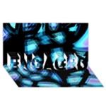 Blue light ENGAGED 3D Greeting Card (8x4)