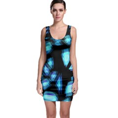 Blue light Sleeveless Bodycon Dress