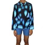Blue light Kids  Long Sleeve Swimwear