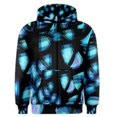 Blue light Men s Zipper Hoodie