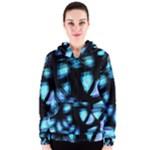 Blue light Women s Zipper Hoodie