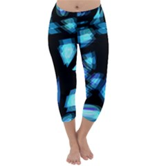 Blue light Capri Winter Leggings